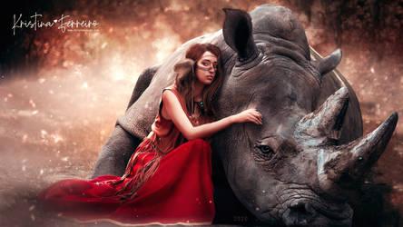 The princess and the rhino