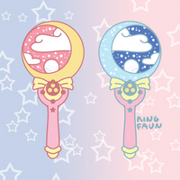 Moon Stick Wand Pin by faundly