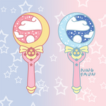 Moon Stick Wand Pin