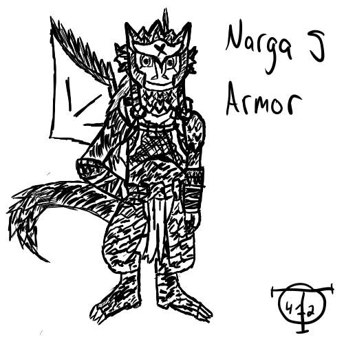 Tal's Art Gallery (updated 11/11/14) Agna_with_narga_s_armor_by_talent412-d4btmh3