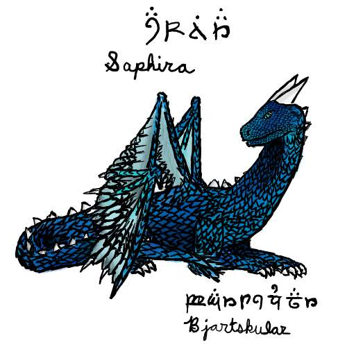 Saphira drawing Saphira_drawing_by_talent412-d4gseqn