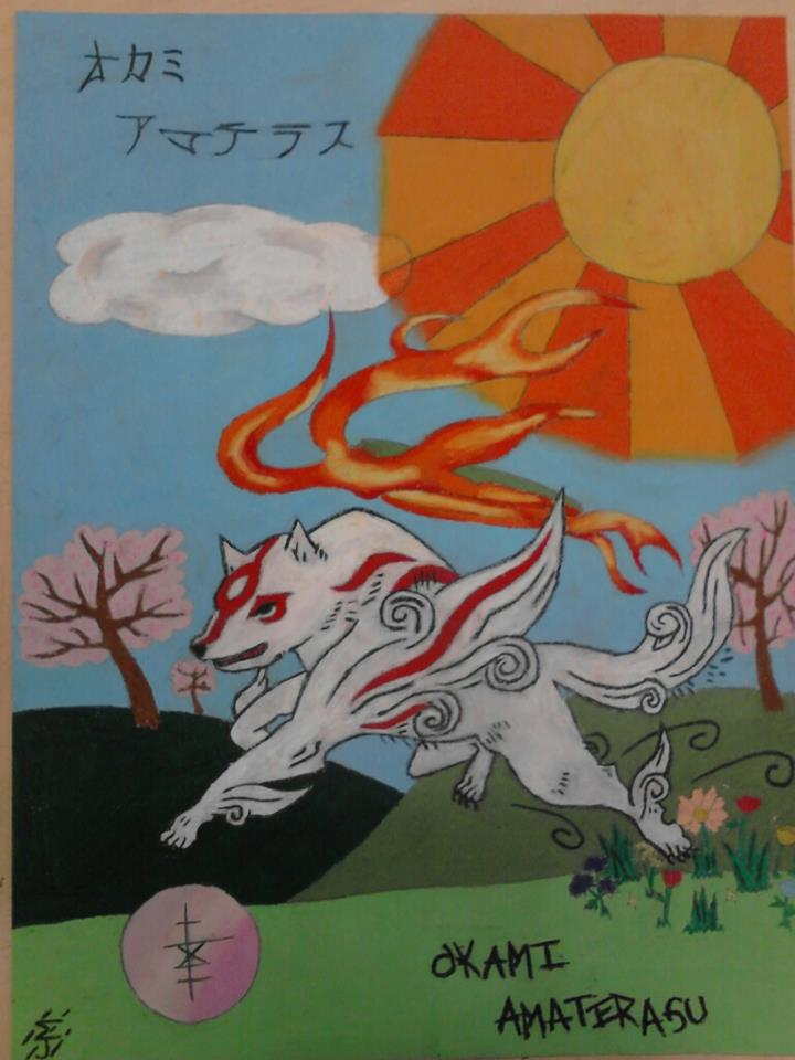 Oil pastels are pretty neat Okami_amaterasu_in_color_by_talent412-d4ybic3