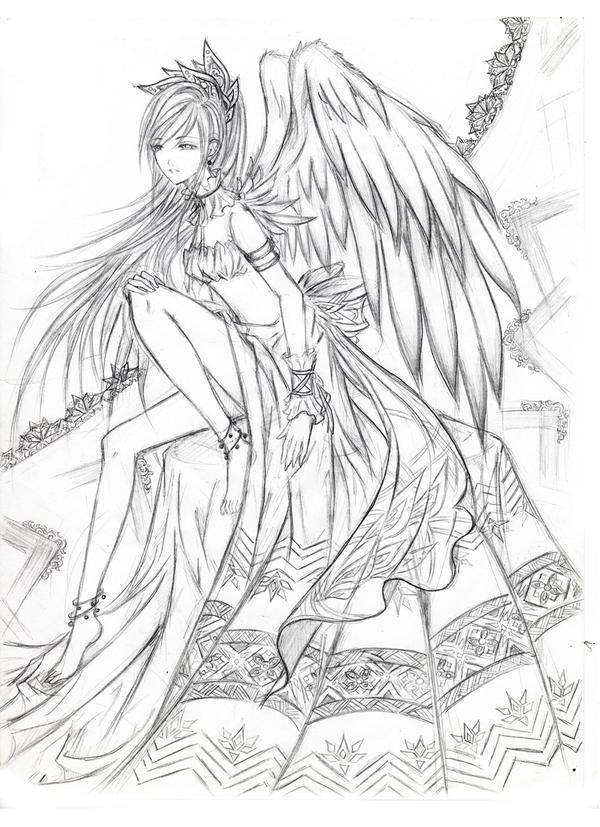 warrior angel coloring pages - photo#16
