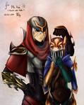 Zed and Quinn - LoL fan art