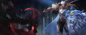 God King Garen vs God king Darius