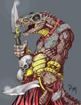 Dinosaur-man warrior