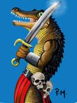 [PSX] Fan Art Legend -  Gator Warrior Version 2