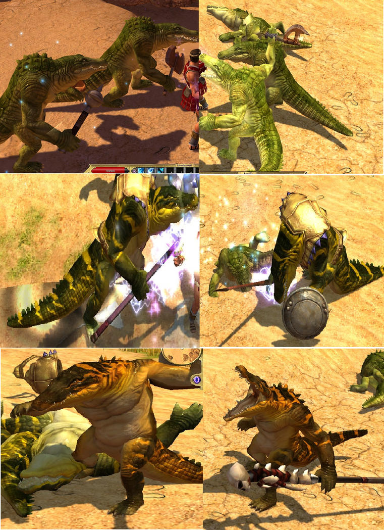 Titan Quest - Reptilian all types by KeIIion