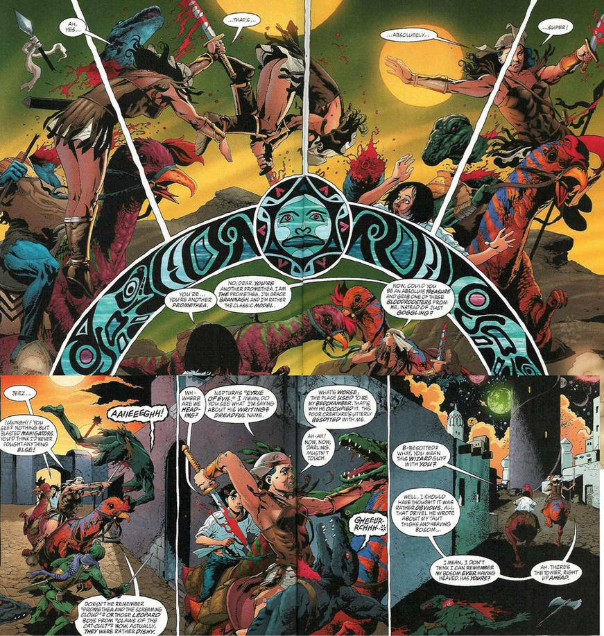 Manigators from Promethea Issue 6 by KeIIion