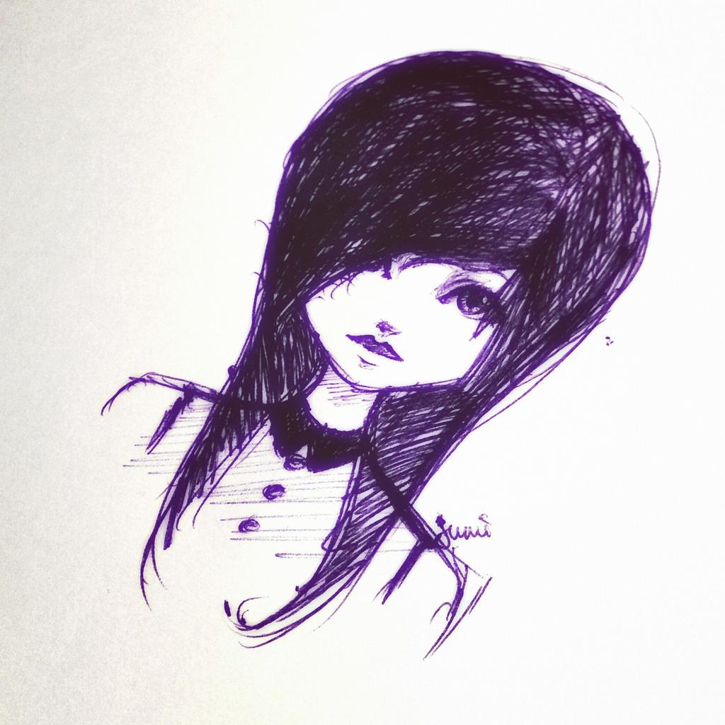 Scene girl sketch