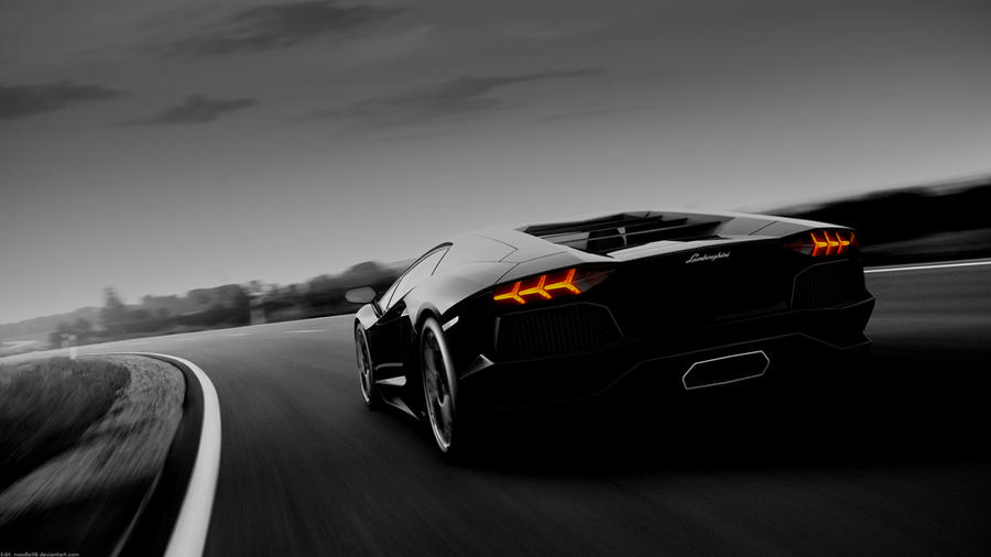 Lambo Aventador HD Wallpaper (edit) by noodle98