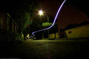 Long Exposure: Longboarding Light Trail by noodle98