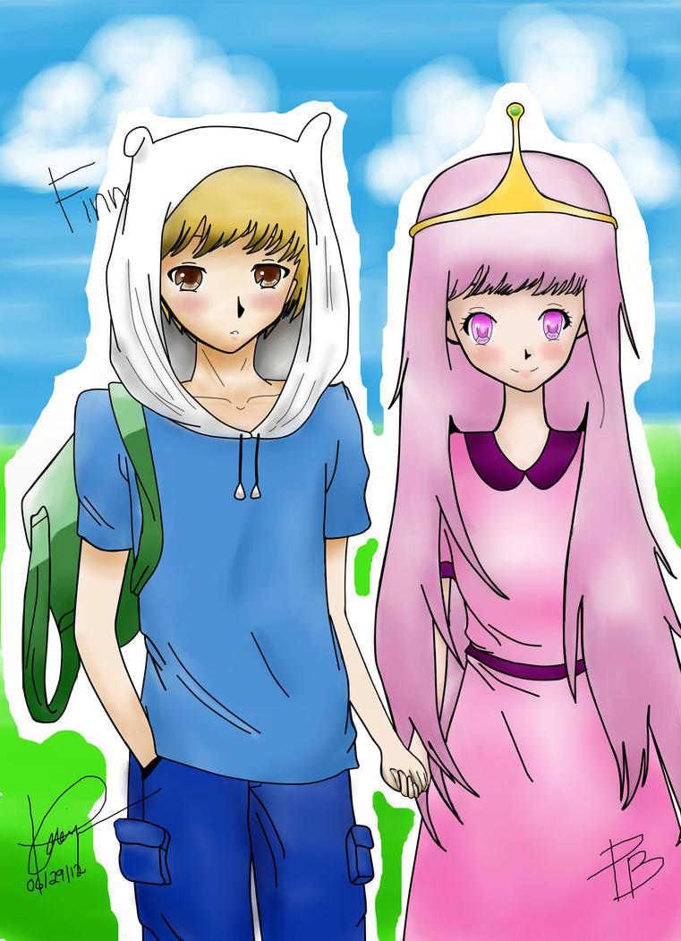 Adventure Time (PB and Finn) Anime ver. by kawaii04otaku ...