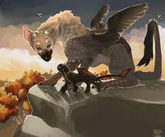 The Last Guardian/Nightfury by SimplyMisty