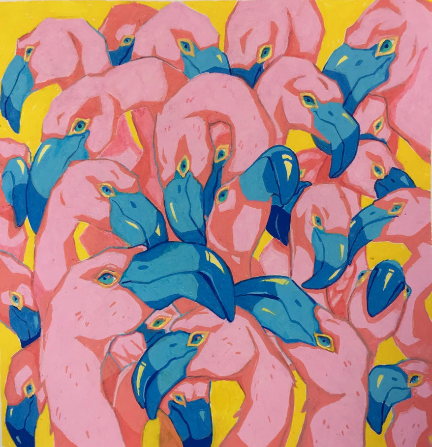 Flamingos by SimplyMisty