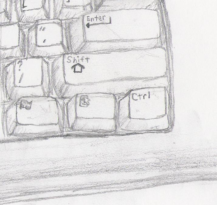 Keyboard Sketch By Froggyanimegirl On Deviantart