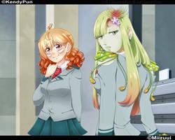 [O.C] BNHA OC Venus and Yuko by Miizuui