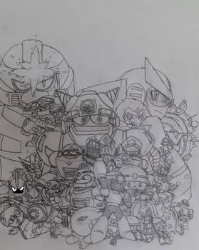 Mega Man 8-bit Deathmatch Cover art (sketch)