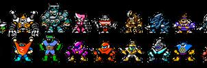 Robot Masters are Reborn!(Upper Sprites)