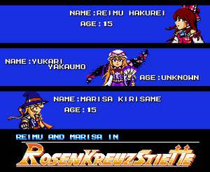 Reimu and Marisa With RKS Design(8bit Pixel art).