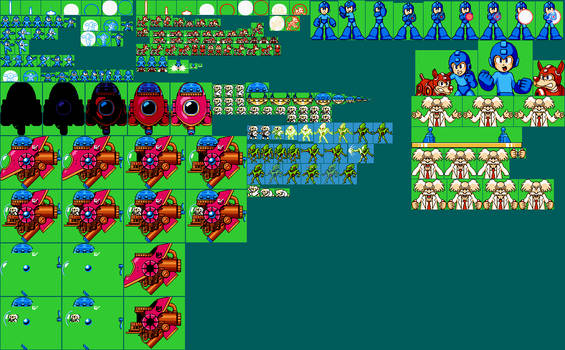 Sprites for Megaman 2 RAP AdventuriaVGM