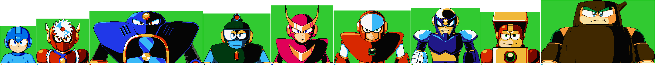 Doctor Wily Numbers MM2 Portraits (MM11 Style IF)
