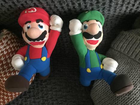 Clay Made : Mario And Luigi