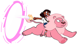 Connie Maheswaran (with Pink Lion)