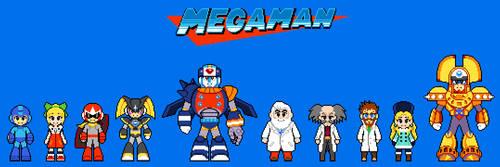 Megaman Chibi Sprites (GuilhermeRM Style)