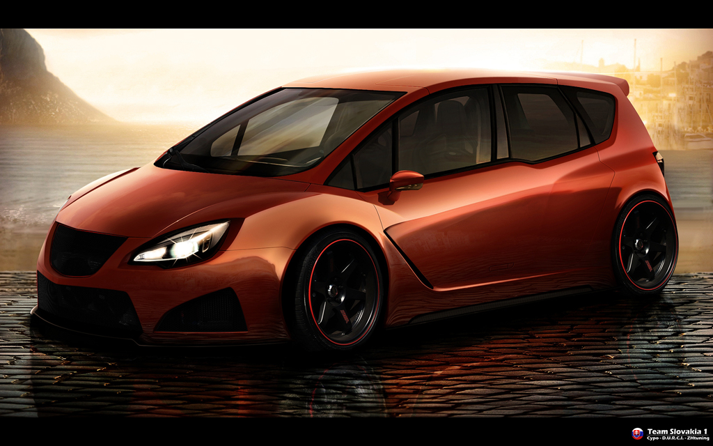 opel meriva wtb front view by cypodesign on deviantart. Black Bedroom Furniture Sets. Home Design Ideas
