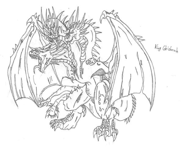 King Ghidorah by 6hellsoldier on DeviantArt