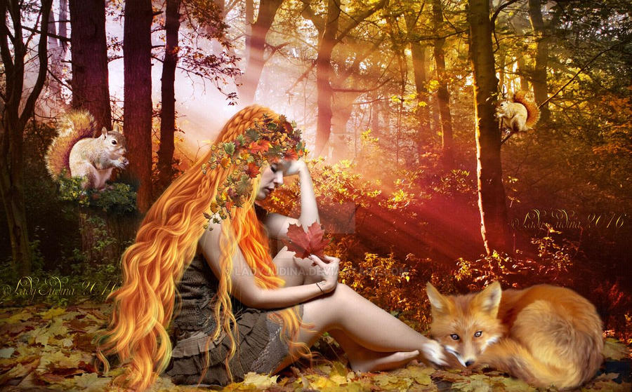 Autumn elf V by ladyjudina