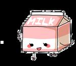 strawberry milk by LiLMissBossy