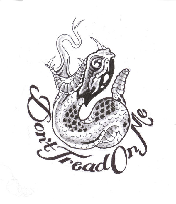 Dont Tread On Me Outline Clipart Library