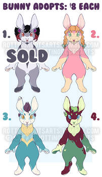 Bunny Adopts: $5 each (2/4 OPEN) price lowered