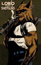 Promo  Lobo with Shotguns by Phleitodactilo