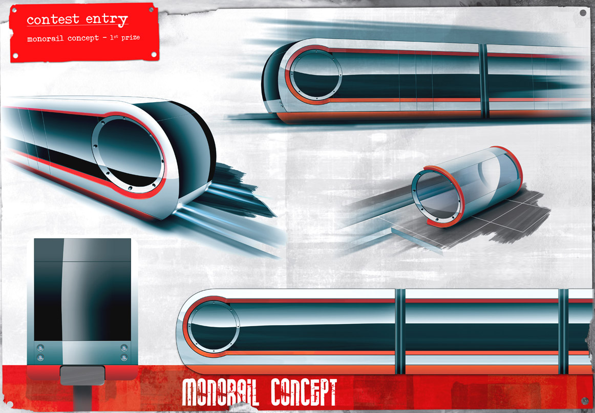 monorail concept by elnurbabayev