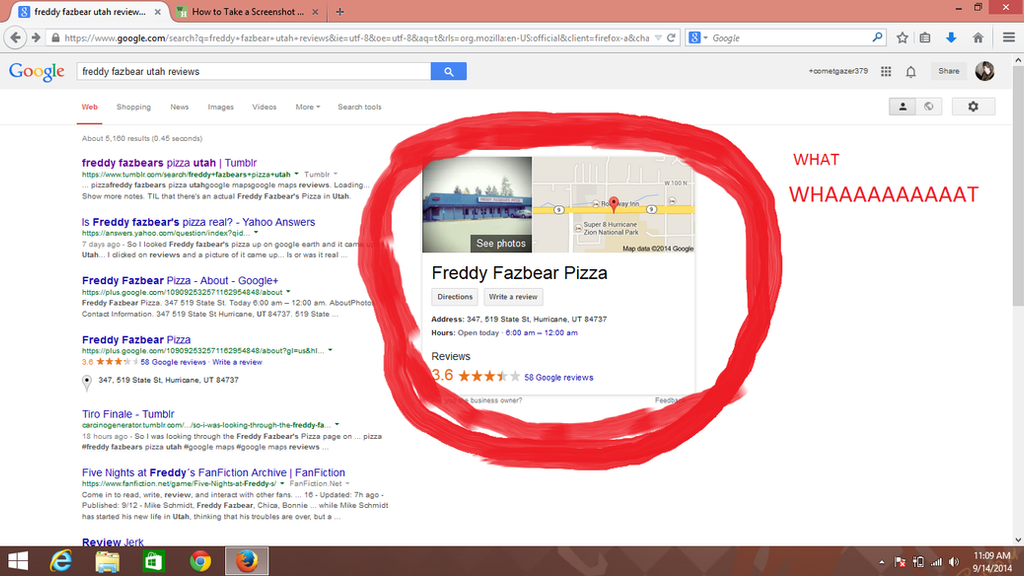 Freddy fazbears pizza phone number search results exit