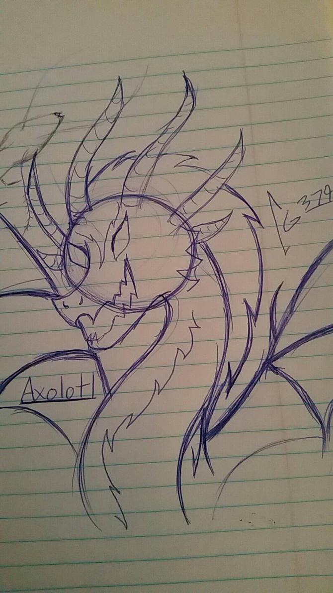Axolotl Sketch by cometgazer379