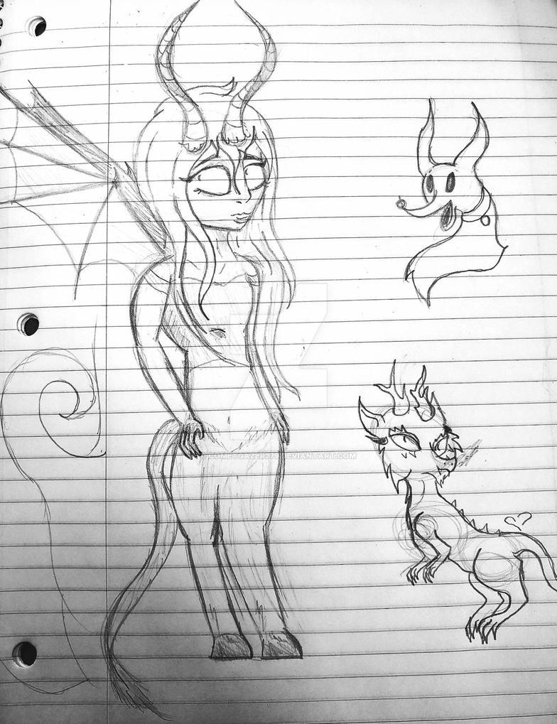 Doodle: Lady Demon by cometgazer379