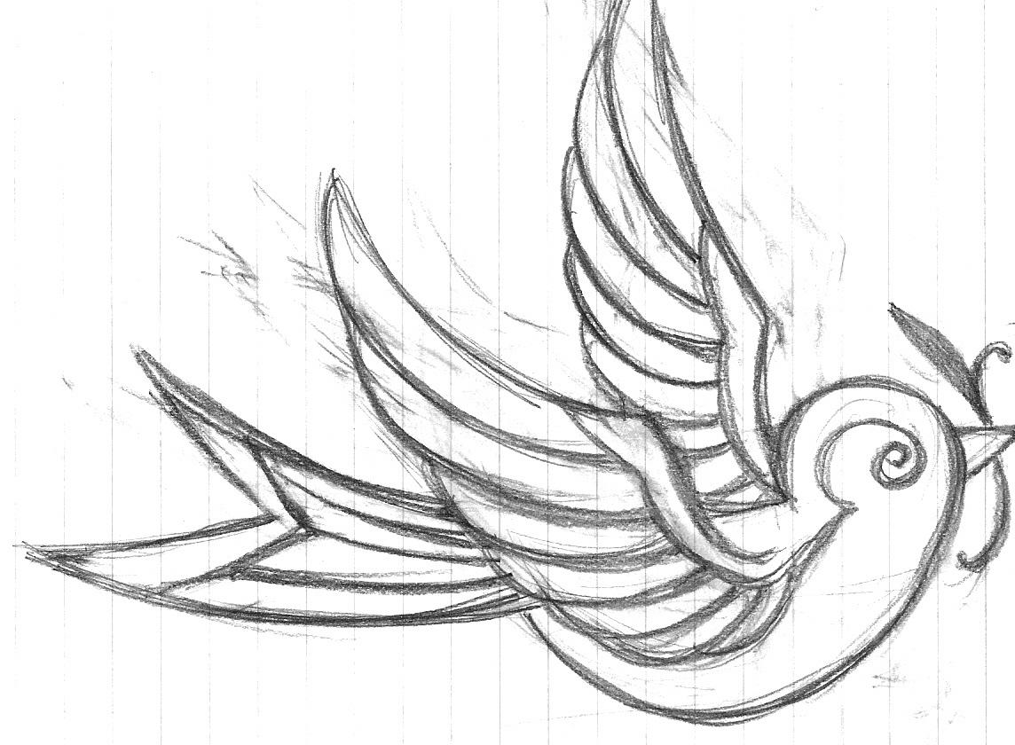 Swallow Tattoo Line Drawing : Swallow tattoo idea by meowle on deviantart