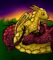 Baby Dragons by muddslide