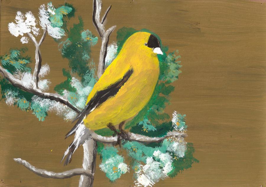 Yellow Bird Painting by Scheinberg on DeviantArt