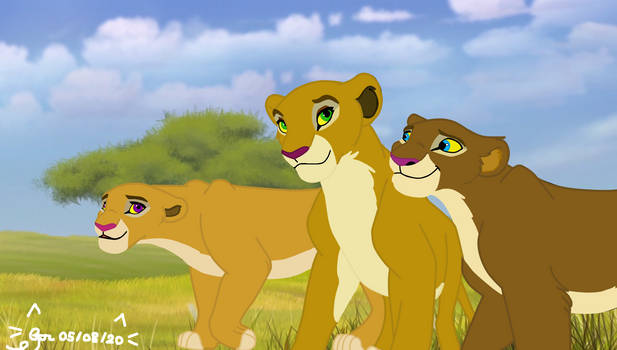 Comission for EmilioKiara: The Lioness Trio