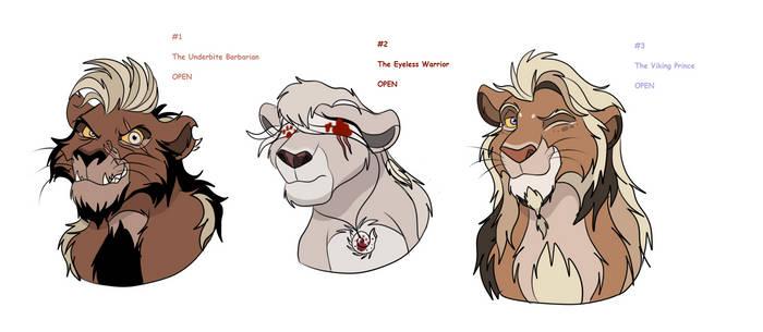 TLK OTA: Three Uncommon Warriors (OPEN) by HekimaTheWhiteLion
