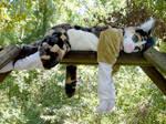 Calico cat fursuit