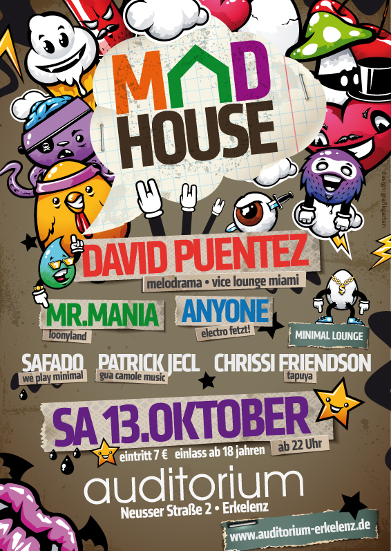 Eventflyer mad house by homeaffairs
