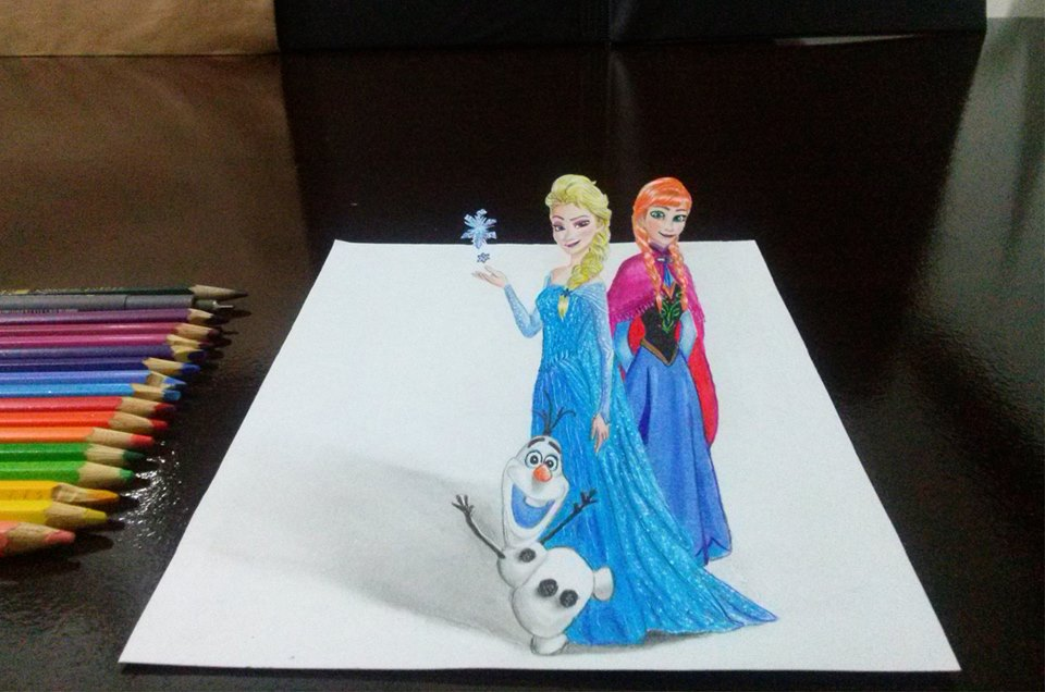 Elsa, Anna and Olaf in 3D - Frozen by LucianLopes on DeviantArt