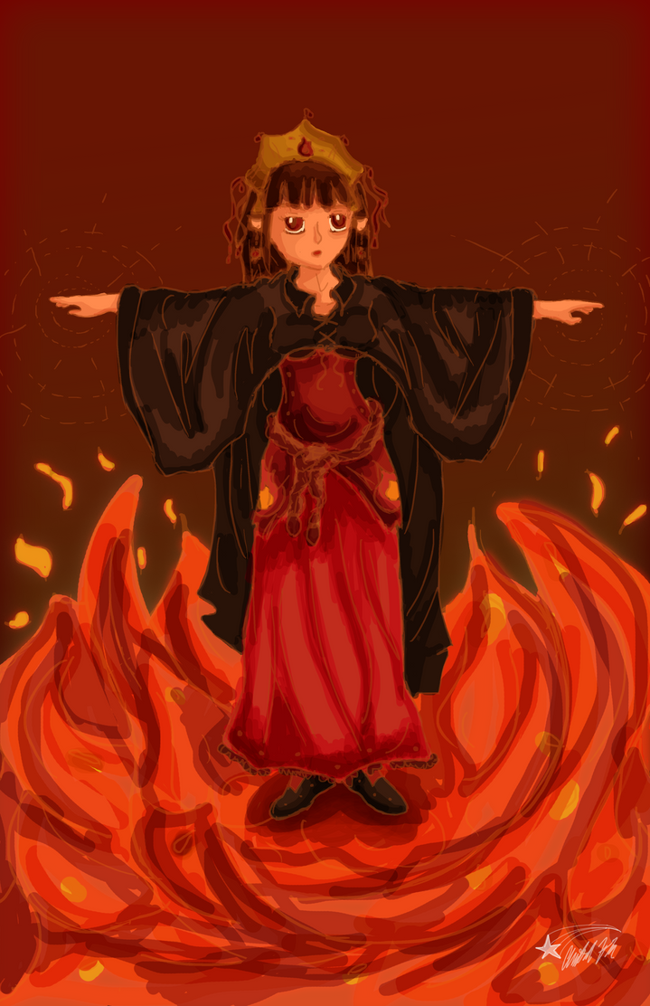 Day 1: Fire Mage by bookwormy606