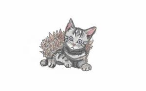 Day 6- kitten/hedgehog by bookwormy606